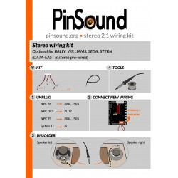PinSound Stereo 2.1 harness for Bally/Williams/SEGA/STERN