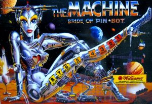 The Machine Bride of Pin bot with PinSound upgrades